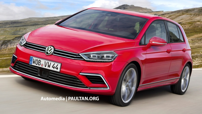RENDERED: Volkswagen Golf Mk8 set to receive evolutionary design, new diesels; retain MQB platform Image #631774