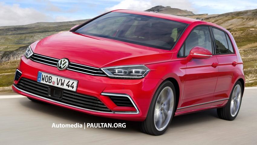 RENDERED: Volkswagen Golf Mk8 set to receive evolutionary design, new diesels; retain MQB platform Image #631774