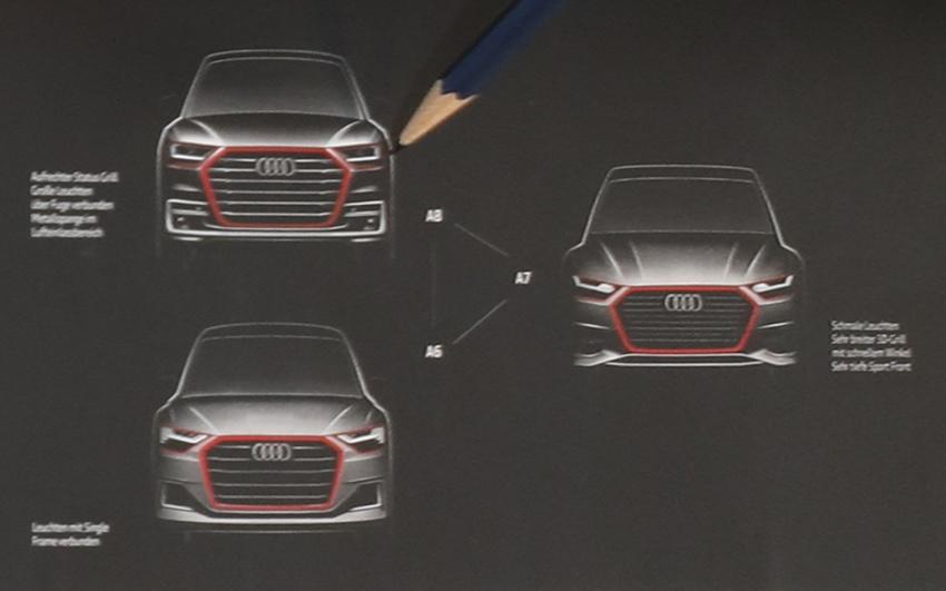 Audi A6 A7 A8 Teased Shows New Design Language Image 630956
