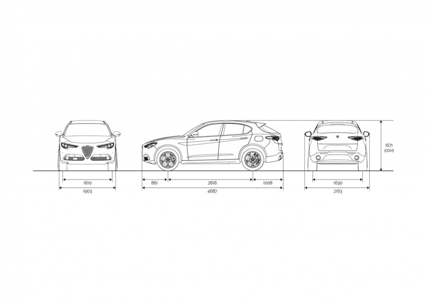 Alfa Romeo Stelvio gains new base engines for EMEA: 200 hp/330 Nm 2.0 petrol and 180 hp/490 Nm 2.2 diesel Image #639759