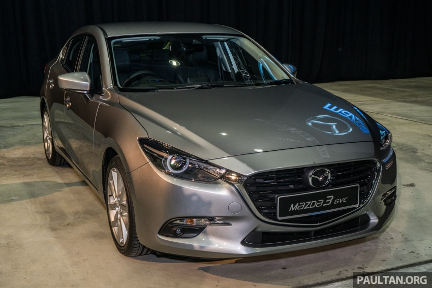 2017 Mazda 3 facelift launched in Malaysia – now with G-Vectoring Control; three variants, from RM111k Image #651967