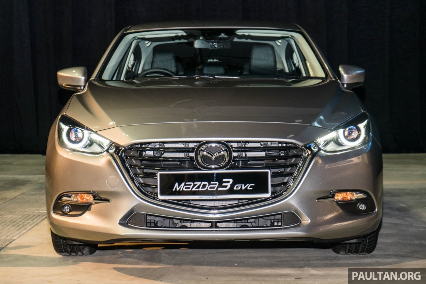 2017 Mazda 3 facelift launched in Malaysia – now with G-Vectoring Control; three variants, from RM111k Image #651742