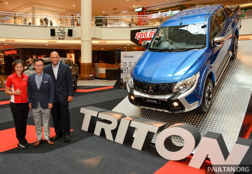 2017 Mitsubishi Triton receives ESP, seven airbags and five-year/200,000 km warranty – RM77k-RM131k Image #641829