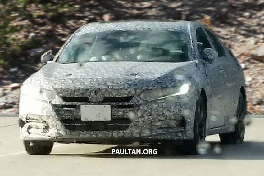 SPYSHOTS: 2018 Honda Accord strips some camo Image #646657