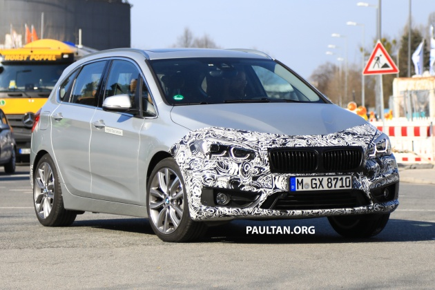 spied: f45 bmw 2 series active tourer lci spotted