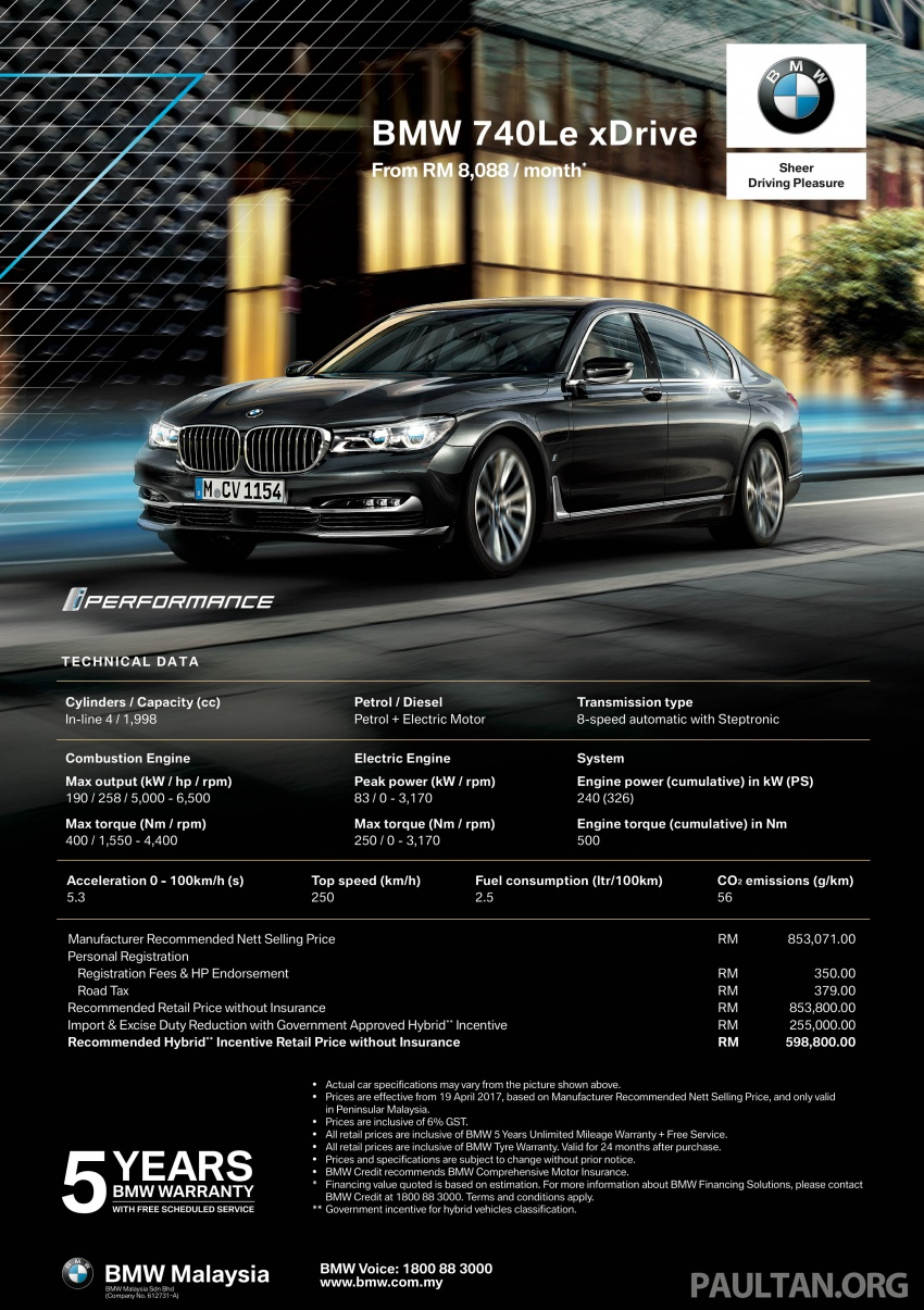G12 BMW 7 Series plug-in hybrid officially introduced in Malaysia – 740Le xDrive, locally-assembled, RM599k Image #648035