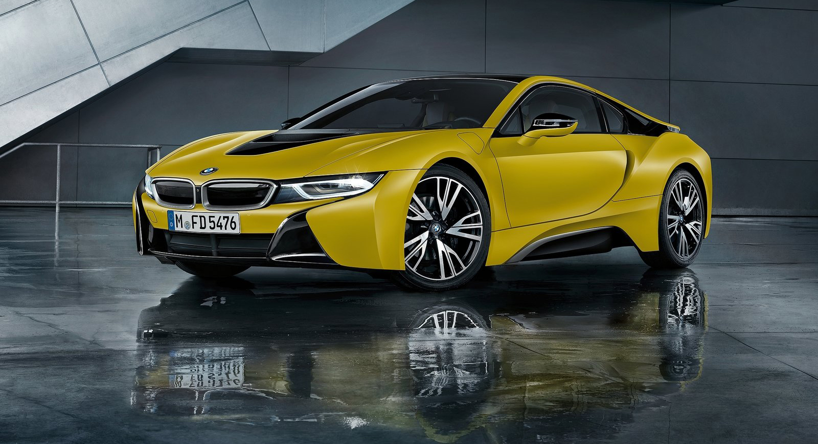 bmw i8 protonic frozen yellow special edition in sept. Black Bedroom Furniture Sets. Home Design Ideas