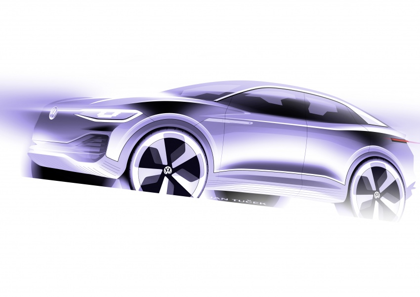 Volkswagen I.D. Crozz – coupe/SUV crossover EV debuts with 306 PS, all-wheel drive, 500 km range Image #647180