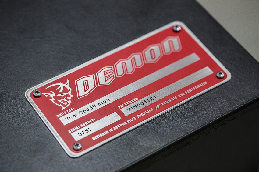 Dodge Challenger SRT Demon – world's quickest production car with 840 hp, 0-100 km/h in 2.3 secs Image #643948
