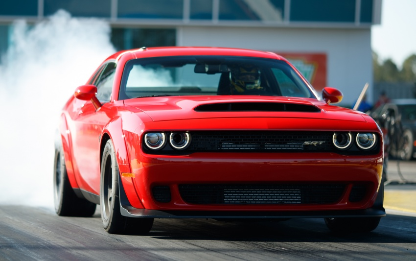 Dodge Challenger SRT Demon – world's quickest production car with 840 hp, 0-100 km/h in 2.3 secs Image #644027