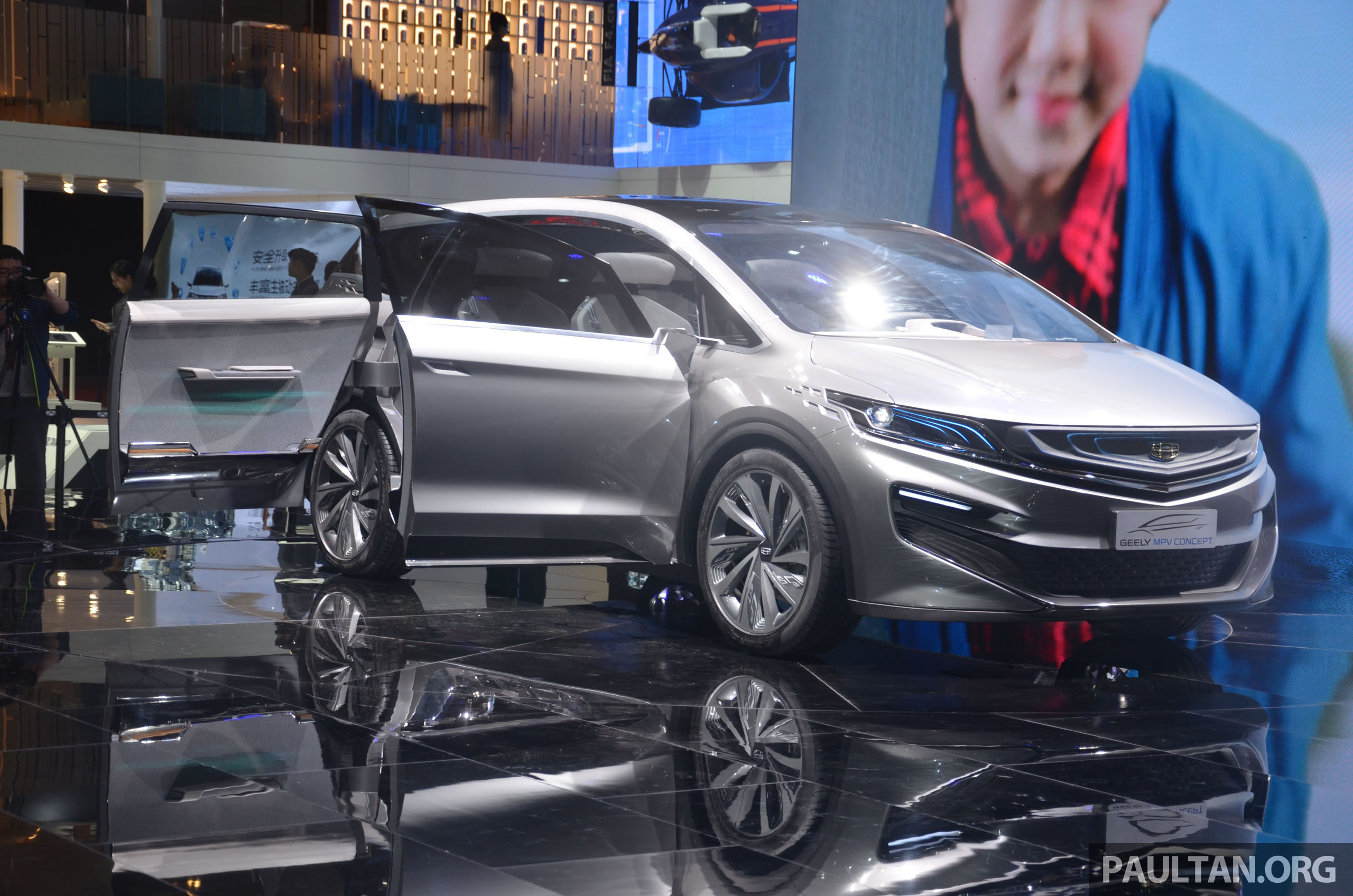 Local Market Tool >> GALLERY: Geely MPV Concept on stage in Shanghai