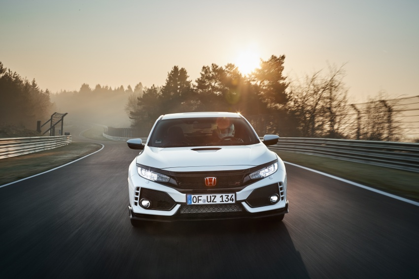 Honda Civic Type-R generasi baharu rampas takhta kereta pacuan hadapan terpantas di litar Nurburgring Image #650304