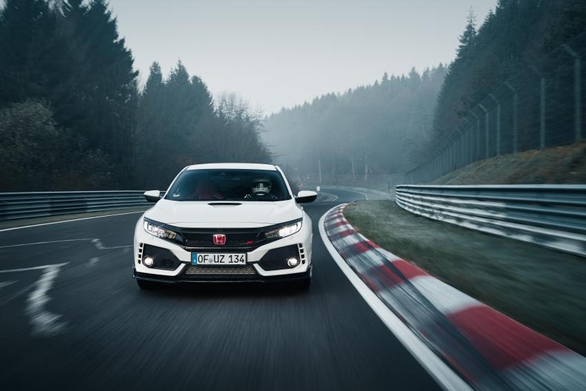 Honda Civic Type-R generasi baharu rampas takhta kereta pacuan hadapan terpantas di litar Nurburgring Image #650325