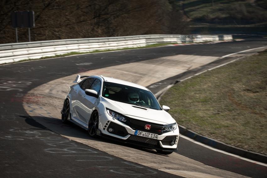 Honda Civic Type-R generasi baharu rampas takhta kereta pacuan hadapan terpantas di litar Nurburgring Image #650314