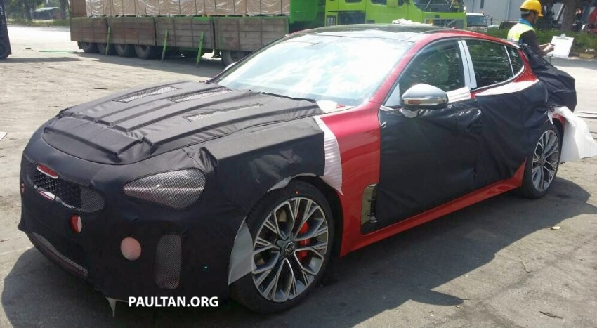 SPIED: Kia Stinger – four-door GT sighted in Malaysia Image #652284