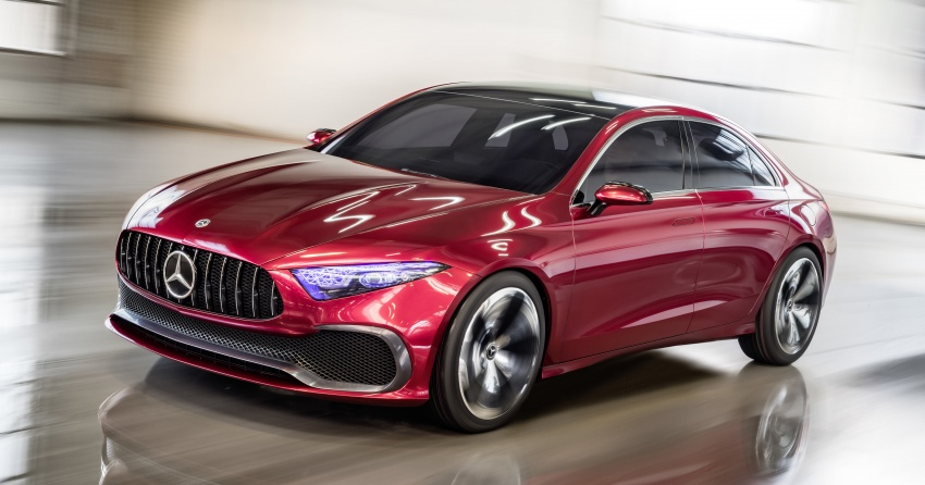 Mercedes-Benz Concept A Sedan officially revealed Image #647183