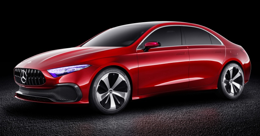 Mercedes-Benz Concept A Sedan officially revealed Image #647186