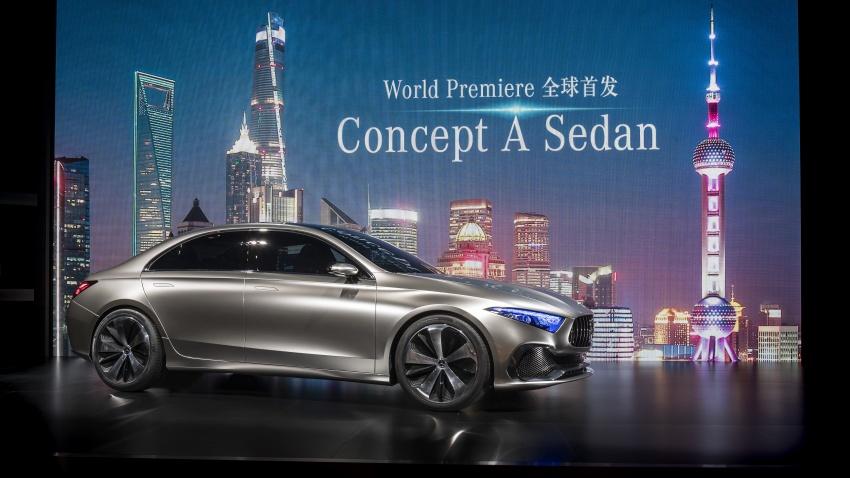 Mercedes-Benz Concept A Sedan diperkenalkan Image #647496
