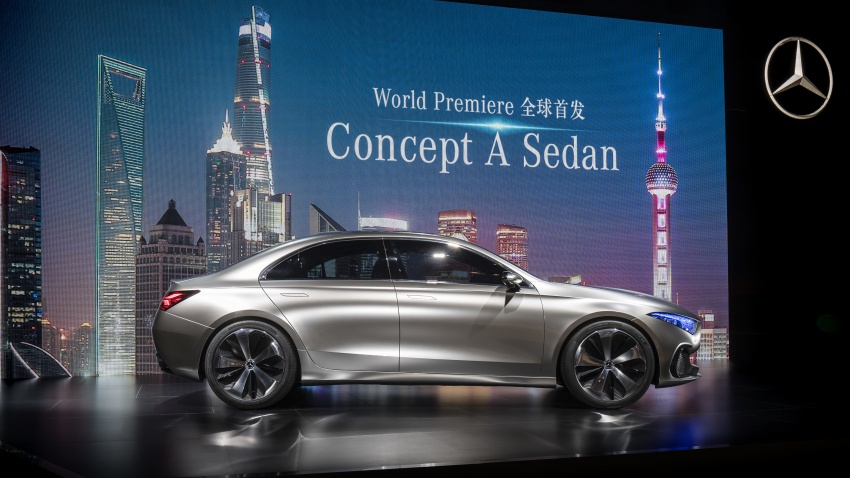 Mercedes-Benz Concept A Sedan officially revealed Image #647343