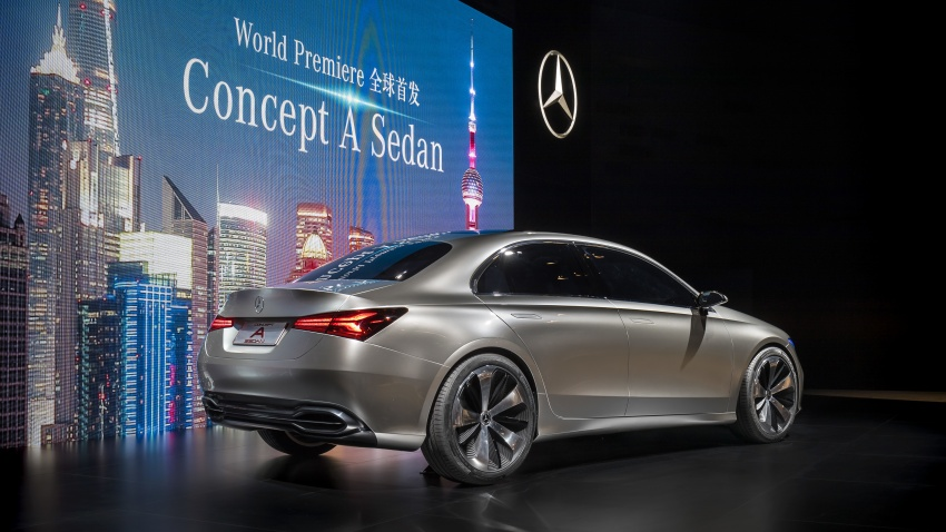 Mercedes-Benz Concept A Sedan officially revealed Image #647344