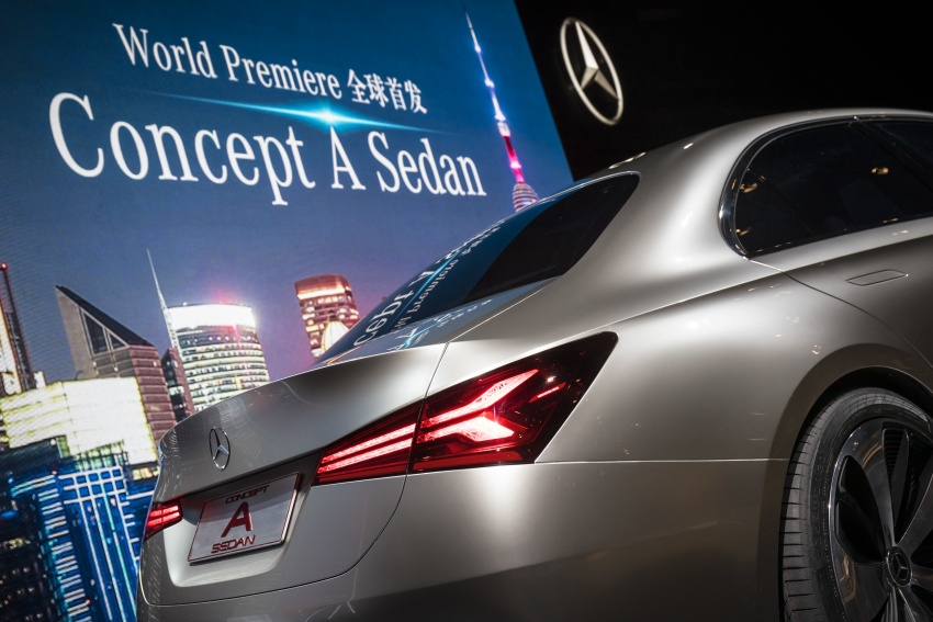 Mercedes-Benz Concept A Sedan officially revealed Image #647345