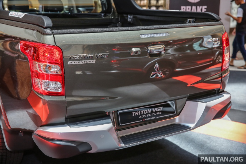 Mitsubishi Triton updated for M'sia – 7 airbags, Active Stability Control standard for Adventure variants Image #640443