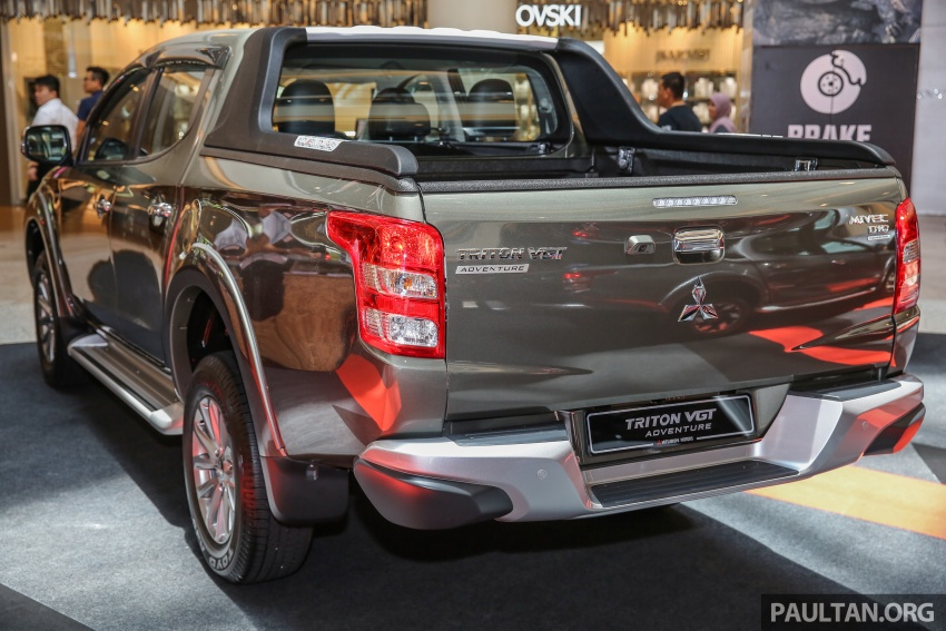 Mitsubishi Triton updated for M'sia – 7 airbags, Active Stability Control standard for Adventure variants Image #640435
