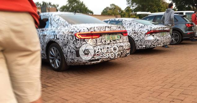 Next-gen Audi A8, A7 – new taillight designs seen Image #638529
