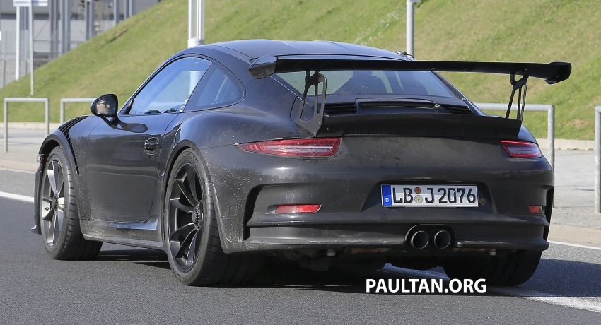 SPIED: Porsche 911 GT3 RS facelift spotted again Image #638851