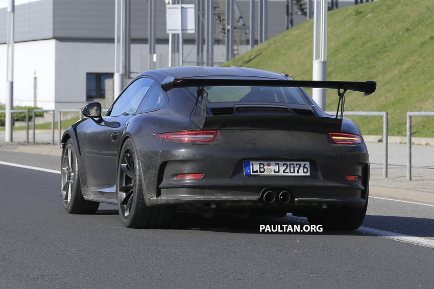 SPIED: Porsche 911 GT3 RS facelift spotted again Image #638852