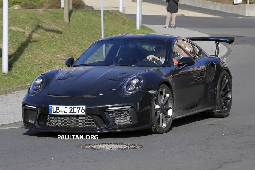 SPIED: Porsche 911 GT3 RS facelift spotted again Image #638841