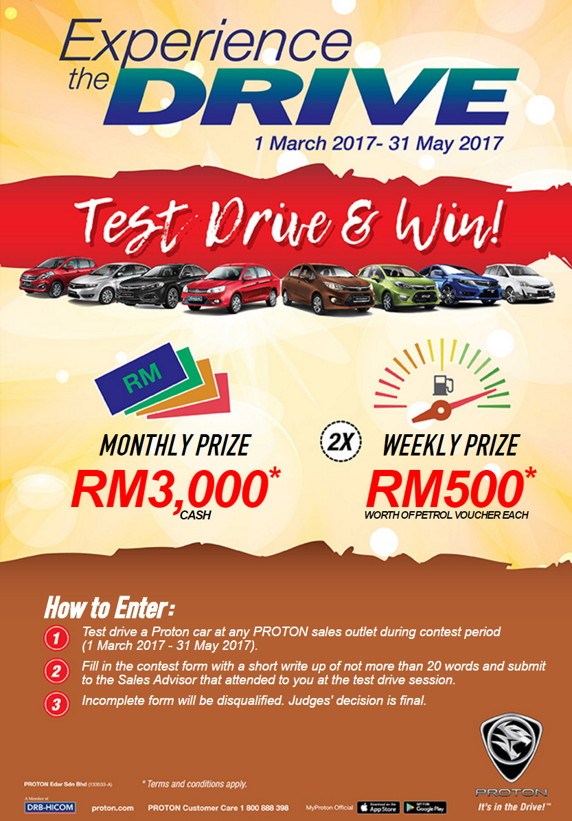 Proton offers 5-year free service on all models; test drive and win cash or petrol vouchers in contest Image #649562