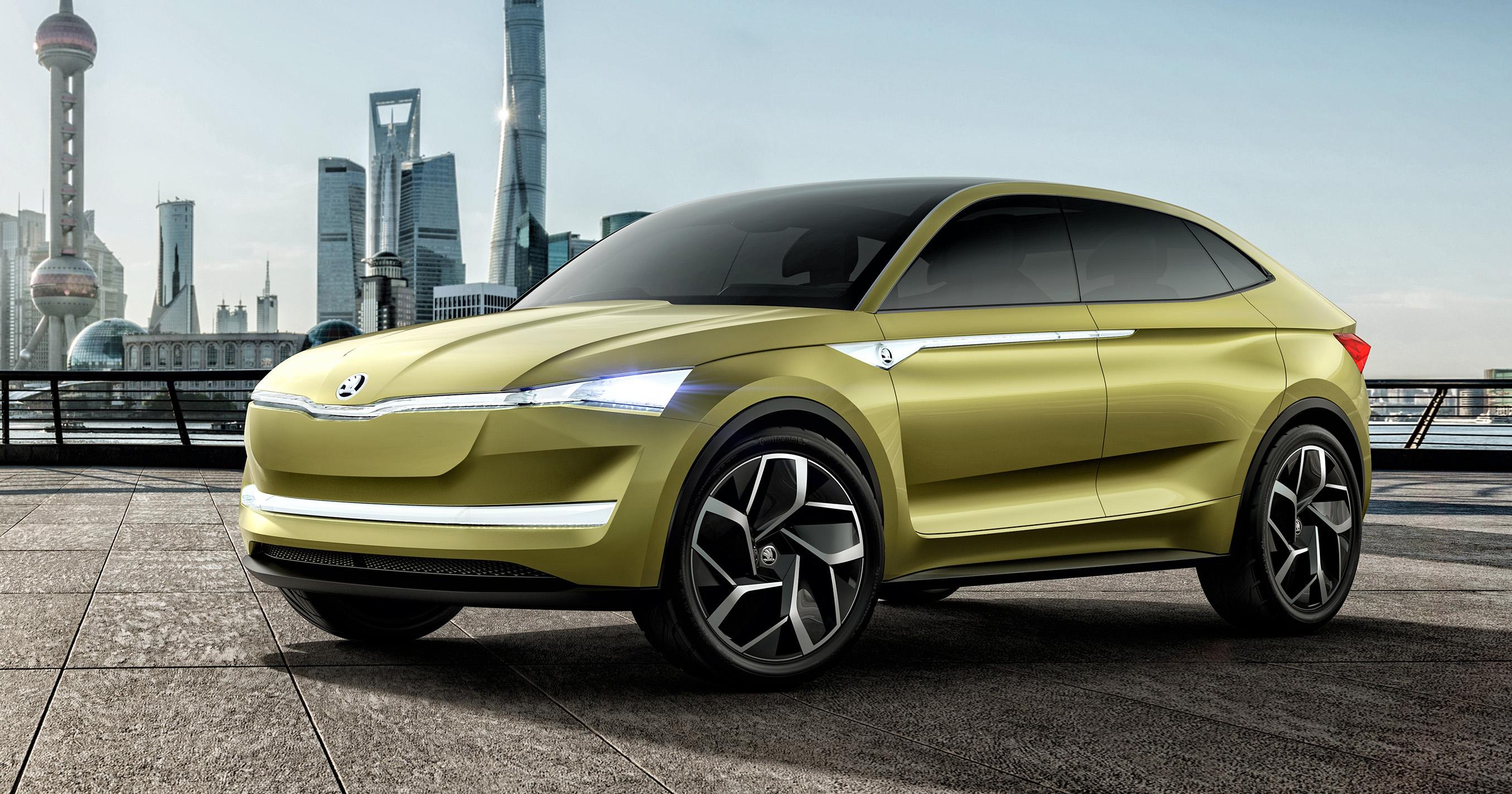 Skoda Vision-E concept revealed - up to 500 km range