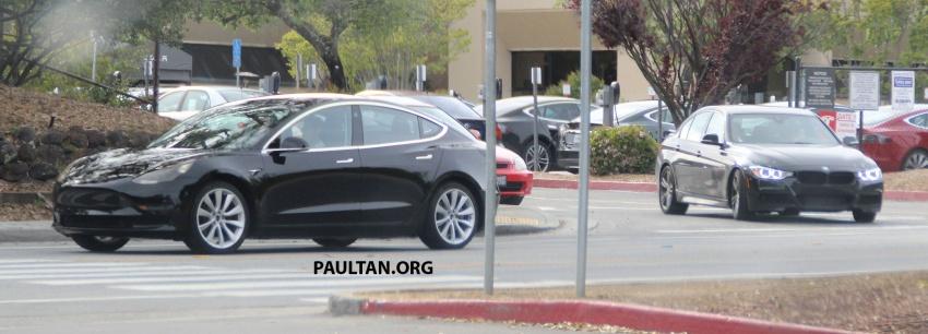 SPIED: Tesla Model 3 spotted testing, interior shown Image #641752