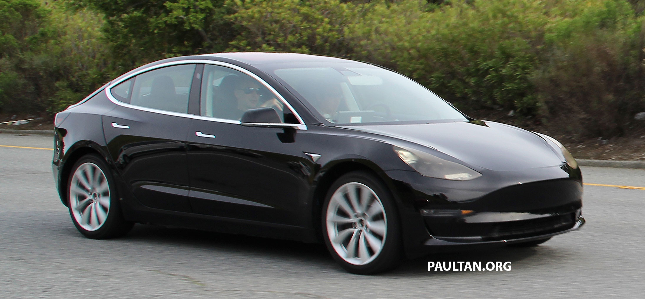 SPIED: Tesla Model 3 spotted testing, interior shown Paul ...