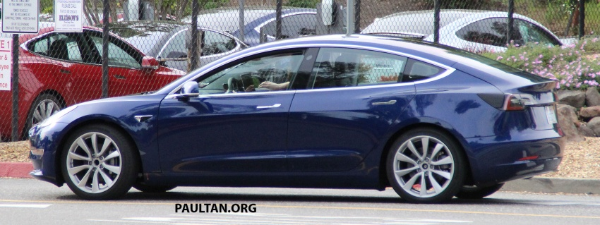 SPIED: Tesla Model 3 spotted testing, interior shown Image #641756
