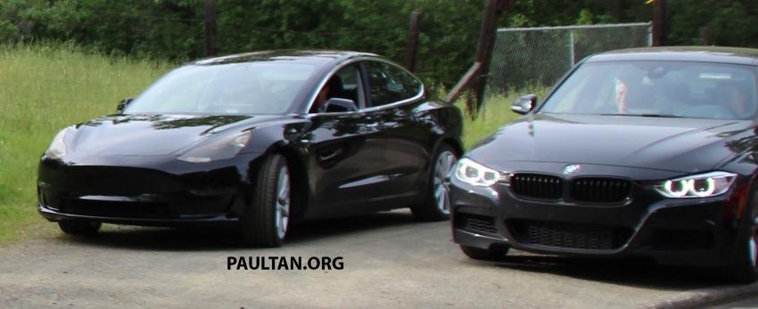 SPYSHOT: Tesla Model 3 dijumpai melakukan ujian Image #641904