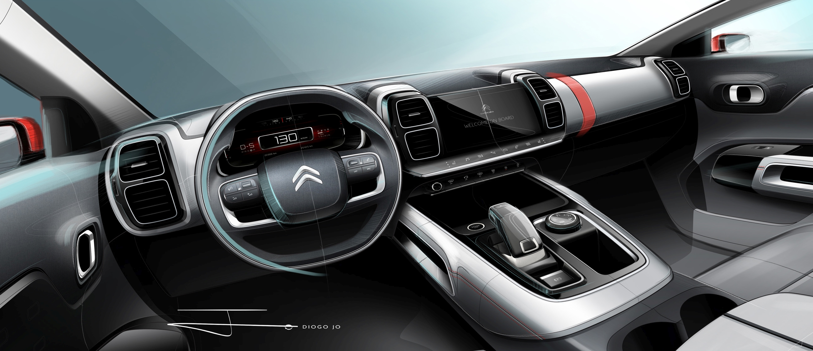 citroen c5 aircross interior teased ahead of shanghai. Black Bedroom Furniture Sets. Home Design Ideas
