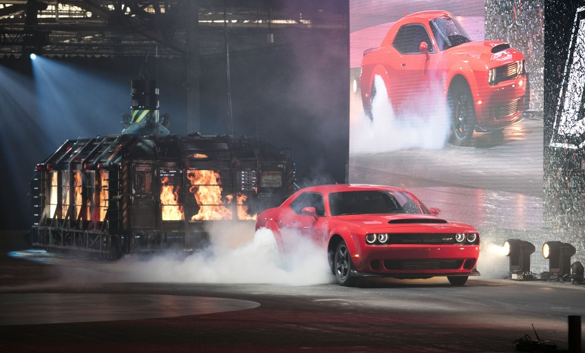 Dodge Challenger SRT Demon – world's quickest production car with 840 hp, 0-100 km/h in 2.3 secs Image #644048