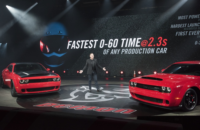 Dodge Challenger SRT Demon – world's quickest production car with 840 hp, 0-100 km/h in 2.3 secs Image #644049