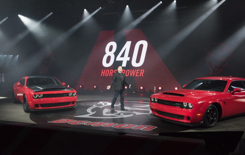 Dodge Challenger SRT Demon – world's quickest production car with 840 hp, 0-100 km/h in 2.3 secs Image #644047