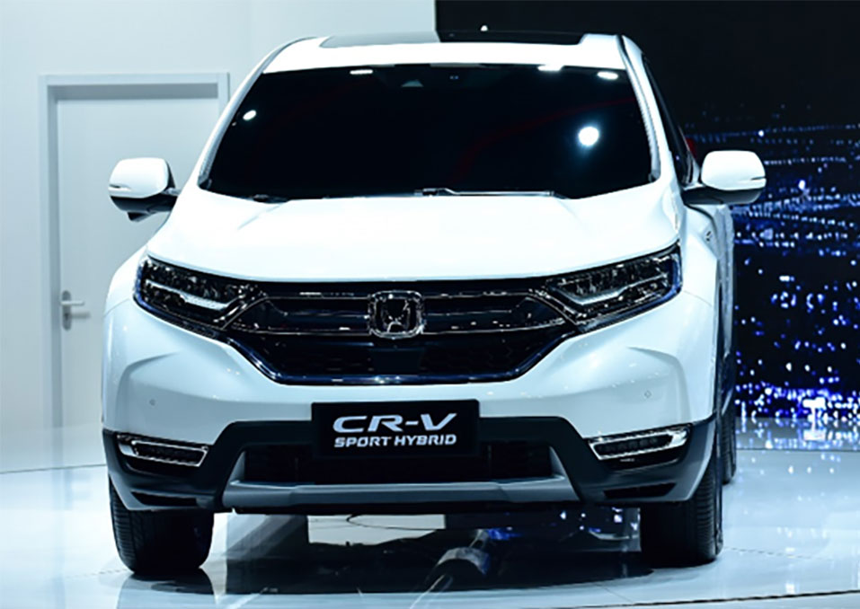 honda cr v hybrid revealed at auto shanghai 2017. Black Bedroom Furniture Sets. Home Design Ideas