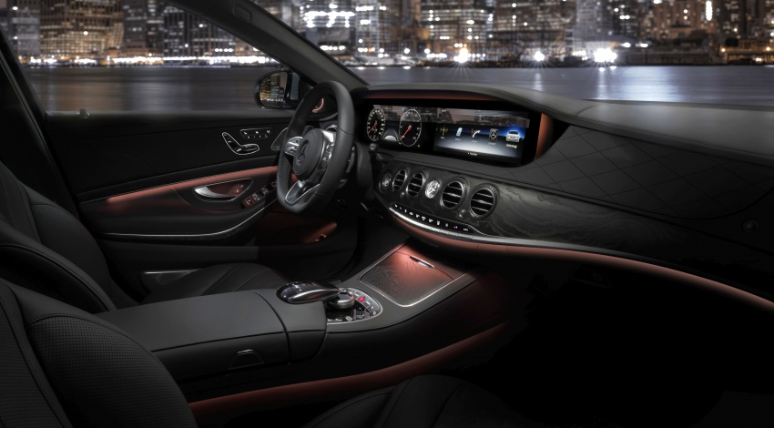 2018 W222 Mercedes-Benz S-Class facelift teased in New York - to ... | {Auto cockpit mercedes 91}
