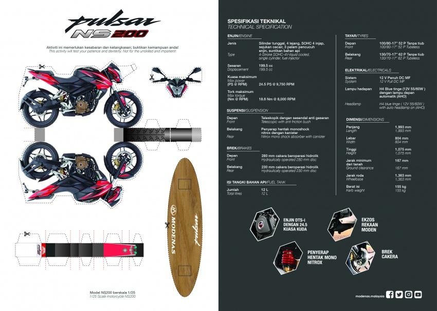 Modenas Pulsar RS200 dan NS200 dilancarkan – enjin 199.5 cc, 24.5 PS dan 18.6 Nm, harga dari RM9,222 Image #660687