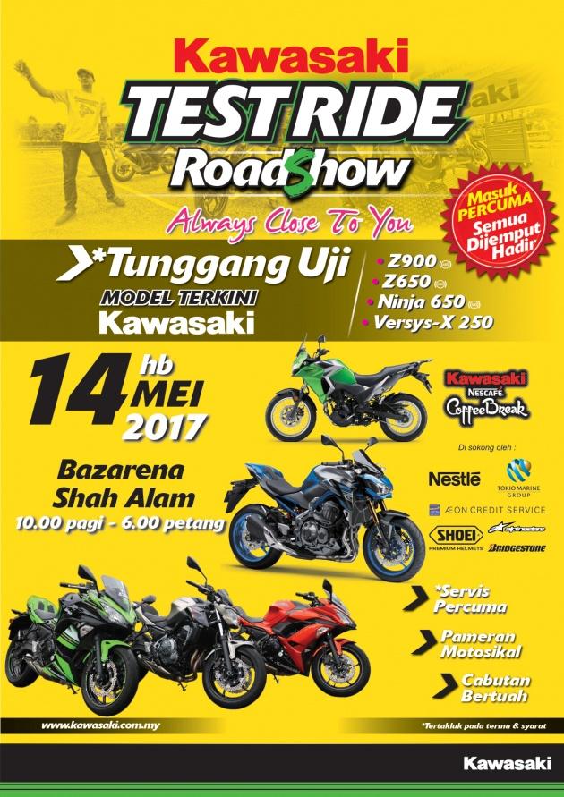 Kawasaki Test Ride Roadshow At Melawati Stadium Shah Alam Z900