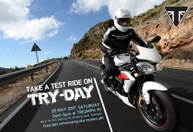2017 Triumph Ride Day Is Back Test Rides Available For 765 Rs