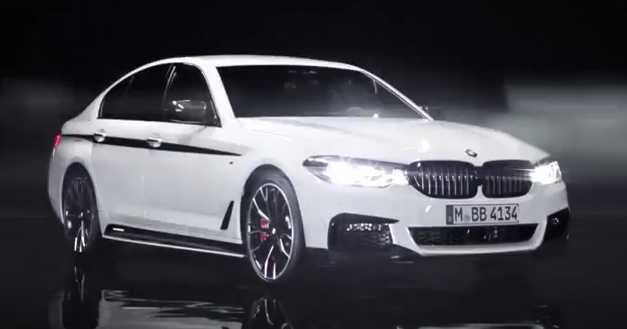 video g30 bmw 5 series with m performance parts. Black Bedroom Furniture Sets. Home Design Ideas