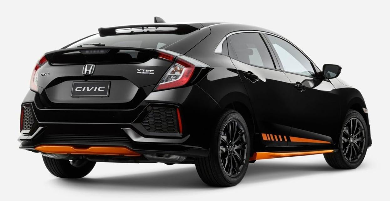honda civic hatchback orange edition for australia