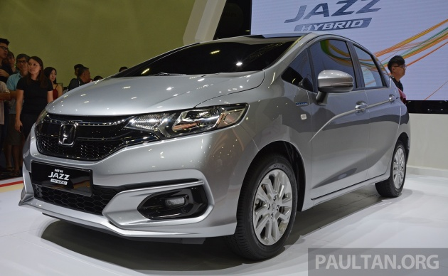 honda jazz facelift previewed in malaysia new 1 5l hybrid with 7