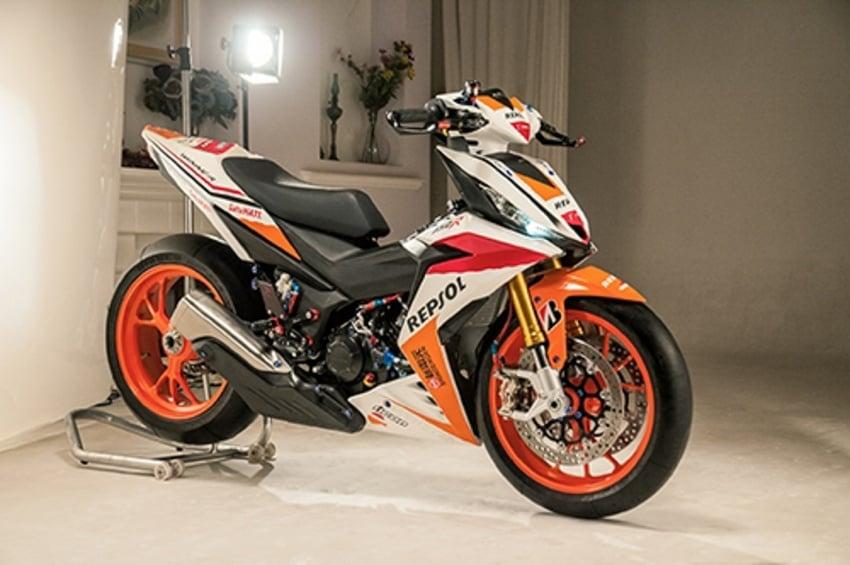 Honda RS150R diubahsuai guna barang superbike Image #657087